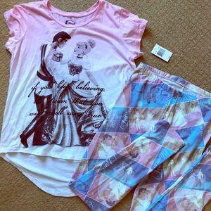 Disney - Cinderella leggings and Ombré T-Shirt